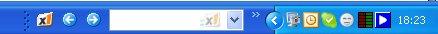 X1 in taskbar